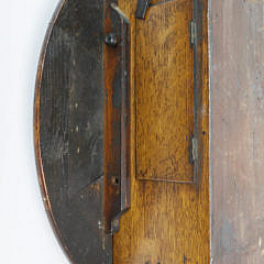 American Round Wall Clock with Fusee Movement, 19th Century