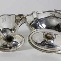 Pair of Gorham Sterling Silver Creamer and Sugar Basket