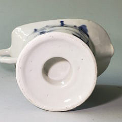 19th Century Chinese Canton Blue and White Helmet Creamer