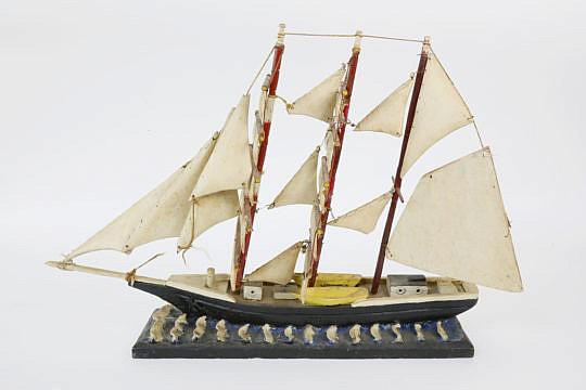 2-4596 Folk Art Wood Ship Model A_MG_8409