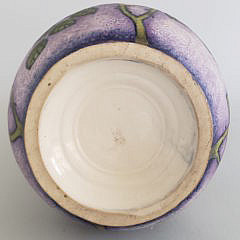 Vintage Painted Art Pottery Amphora Vase