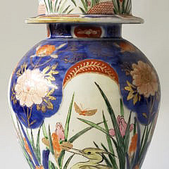21-2463 Imari Covered Jar A