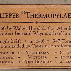 "Contemporary Half Hull Model of the Tea Clipper, ""Thermopylae"""