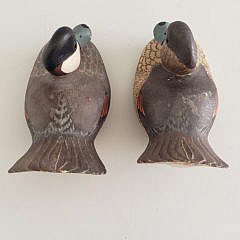 Pair of William H. Cranmer Carved and Painted Ruddy Duck Decoys