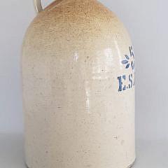 Antique ES&B 5 Gallon Stoneware Jug New Brighton PA