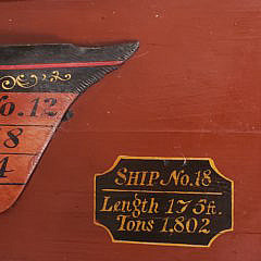Vintage Boat Maker's Half Hull Model