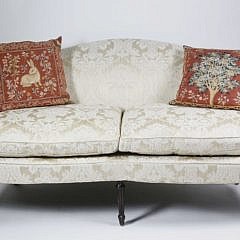 29-4905 Sheraton Style White Upholstered Settee A_MG_8220