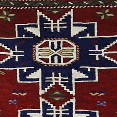 Turkish Tribal Kazak Scatter Rug