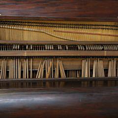 James Nutting and Company Mahogany Upright Piano, Soho, London