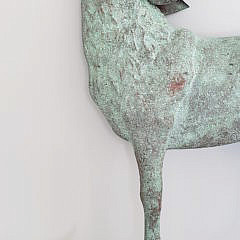 Contemporary Copper Coyote Wolf Weathervane