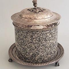 38165 Marble Biscuit Jar A