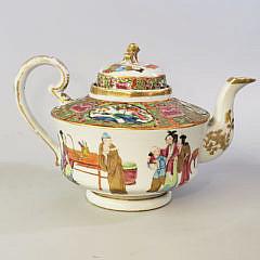 4-4014 Rose Mandarin Tea Pot A