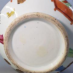 19th Century Chinese Export Rose Mandarin Tea Pot, Circa 1850