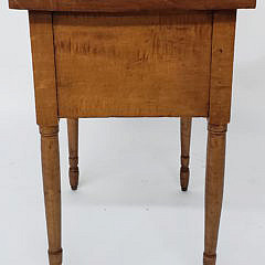 New England Sheraton Tiger Maple Two Drawer Night Stand, 19th Century