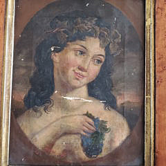 Pair of 19th Century Oil on Canvas Female Portraits