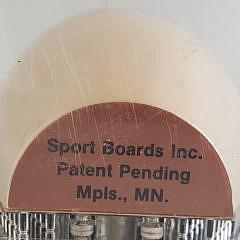 Vintage Sport Board Inc Bowling Pin Cribbage Board