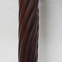 American Sheraton Mahogany Drop Leaf Two Drawer Work Table, 19th Century