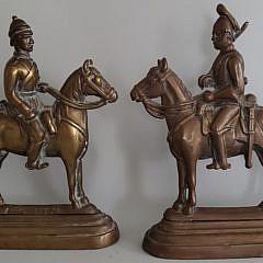 41114 Bronze Bookends A