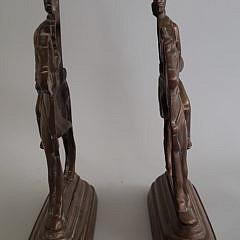 Pair of Antique Brass Figural British Military Doorstops