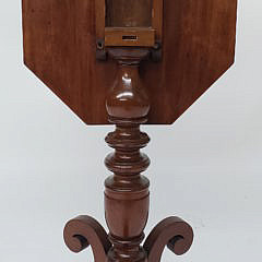American Mahogany and Cherry Tilt Top Table, 19th Century