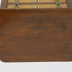 American Sheraton Mahogany and Bird's Eye Maple Two Drawer Stand, circa 1820