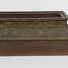 Tibetan Profusely Carved Storage Box on Stand