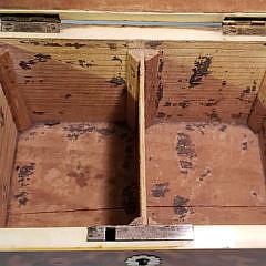 English Regency Tortoiseshell Double Compartment Tea Caddy, 19th Century