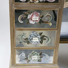 Contemporary Hand Decorated Mirrored Lady's Dressing Table
