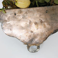 Pair of English Silver Plated Half-Round Meat Dome Wall Baskets