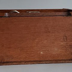 Antique English Oak Tambour Table Top Pipe Cabinet