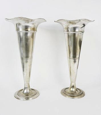 71-4820 Pair Pewter Trumpet Vases A_MG_8341