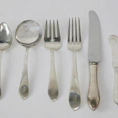 103 Piece Dominick & Haff/Reed and Barton Sterling Silver Flatware Service in the Pointed Antique Pattern