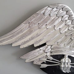 Large Louisburg Style Silver Gilt Carved Spread Wing Eagle