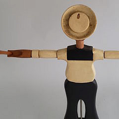 Harry Hilbert Hand Carved and Painted Nantucket Sailor Boy Whirligig