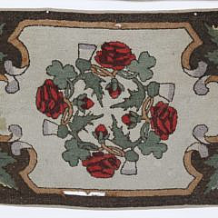 Two American Hooked Scatter Rugs, circa 1880