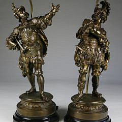 1-2850 Pair of Bronze Figural Lamps A_MG_9285