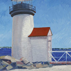 "Miguel Hernandez Oil on Canvas, ""Brant Point Light"""