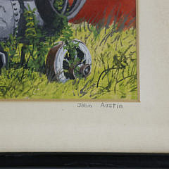 "John Austin Tempera on Artist Board ""Steam Engine – East Hartford"""