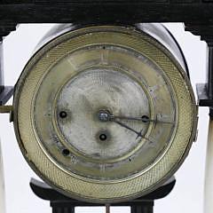 Asian Influenced French Empire Quarter Striking Mantel Clock, circa 1840