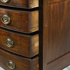 American Sheraton Mahogany Bow Front Chest of Drawers, circa 1830