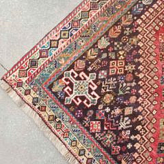 Vintage Persian Hand Knotted Wool Carpet