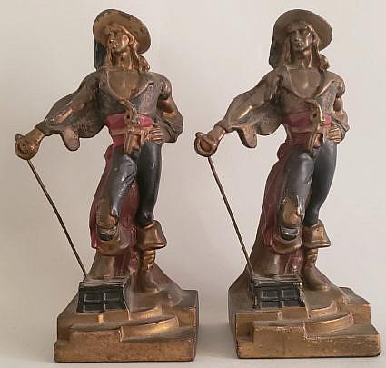10-4801 Pirates Bronze Bookends A