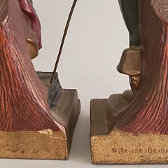 Pair of Vintage Armor Bronze Figural Pirate Bookends