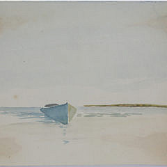 """Richard Beer Early Watercolor on Paper """"Dory"""""""
