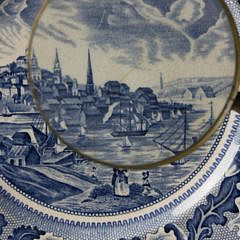 "6 ""Historic America View of Boston"" Porcelain Plates"