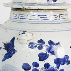 Pair of Chinese Porcelain Covered Temple Jar Lamps