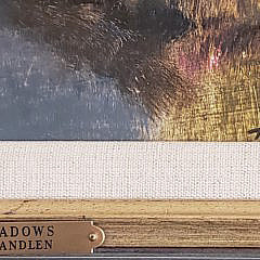 "Frank Handlen Oil on Board, ""Fall Shadows"""