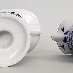 Two 19th Century Chinese Export Porcelain Nanking Helmet Pitchers
