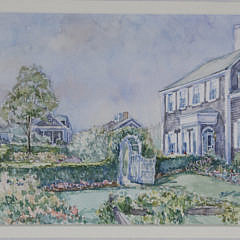 """William Welch Watercolor on Paper """"61 Hulbert Ave"""""""