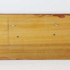 Hand Crafted Six-Lift Half Hull Catboat on Mahogany Plaque